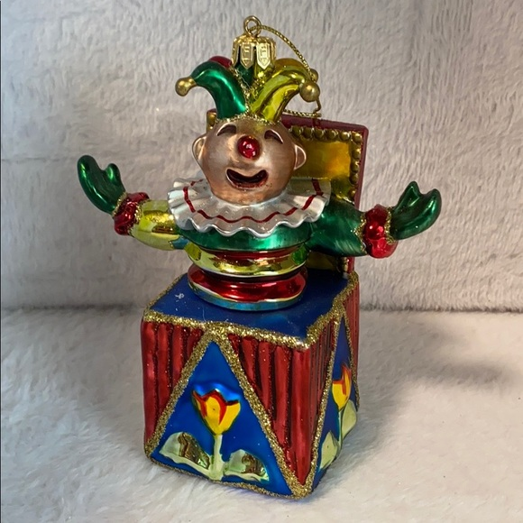 Fitz and Floyd Vintage Jack in the Box Ornament